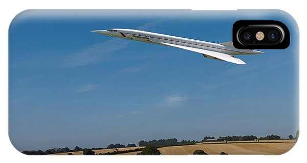 IPhone Case featuring the digital art Concorde At Harvest Time by Paul Gulliver