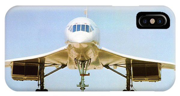 Concorde iPhone Case - Concorde On Airport Runway by Us National Archives
