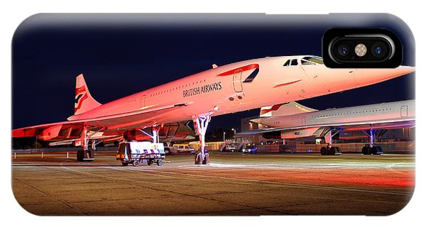 Concorde On Stand IPhone Case