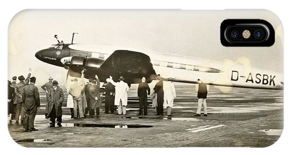 Condor iPhone Case - Condor Aircraft Before Take-off by Eye On The Reich: German Propaganda Photographs/new York Public Library