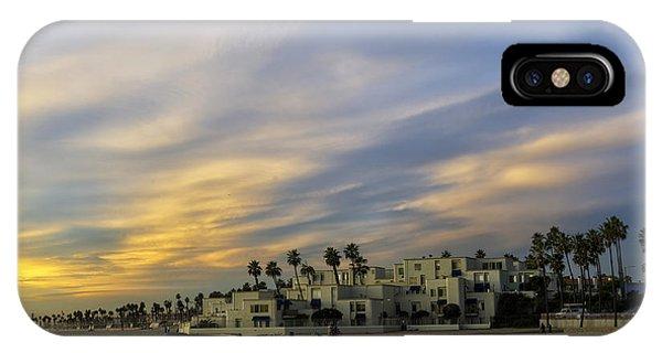 Condos On The Sand Near Huntington Beach Pier IPhone Case
