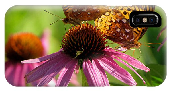 Coneflower Butterflies IPhone Case