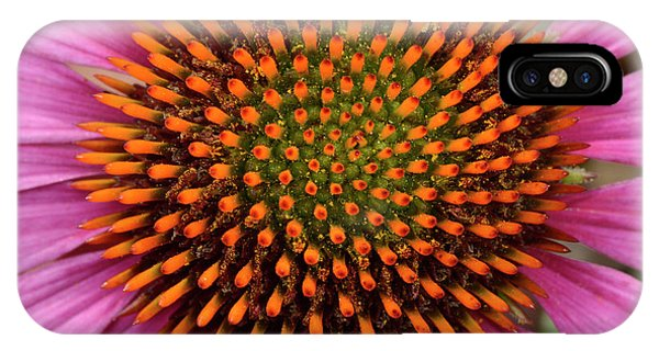 Coneflower Centre Abstract IPhone Case