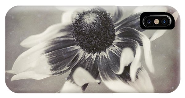 Coneflower In Monochrome IPhone Case