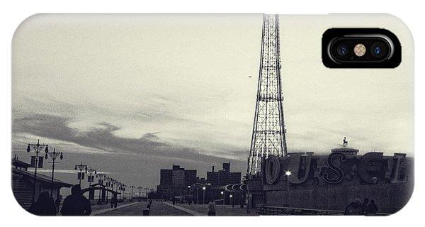 Coney Island Dusk IPhone Case