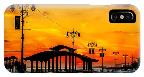 IPhone Case featuring the photograph Coney Island Winter Sunset by Chris Lord