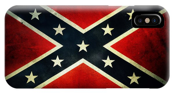 Weathered iPhone Case - Confederate Flag 4 by Les Cunliffe