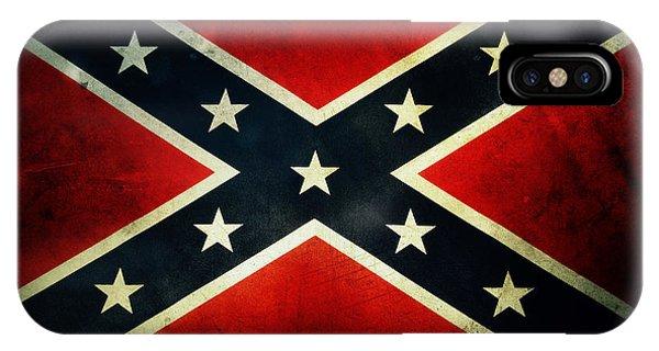 Closeup iPhone Case - Confederate Flag 4 by Les Cunliffe