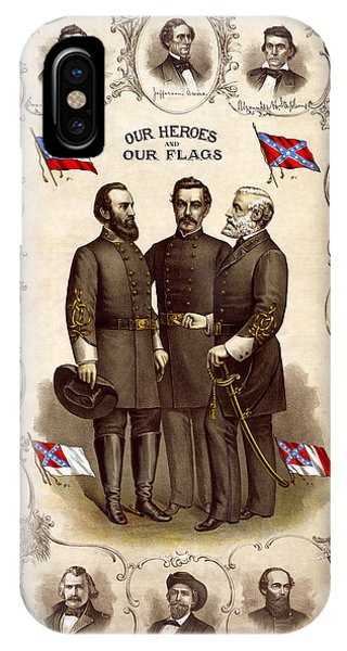 Confederate Generals And Flags IPhone Case