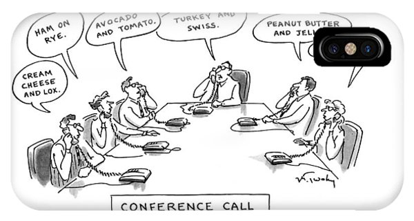 Conference Call IPhone Case