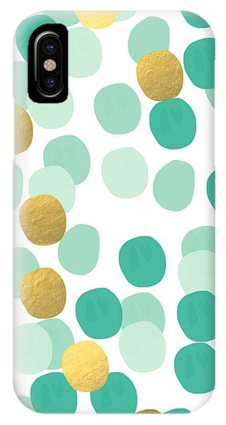 Aqua iPhone Case - Confetti 2- Abstract Art by Linda Woods