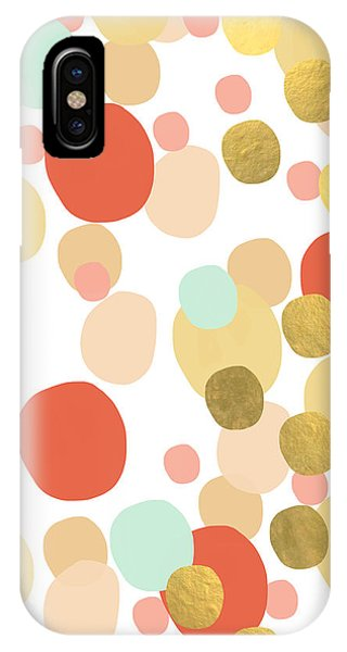 Peach iPhone Case - Confetti- Abstract Art by Linda Woods