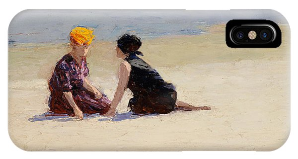 Valentines Day iPhone X Case - Confidences by Edward Henry Potthast