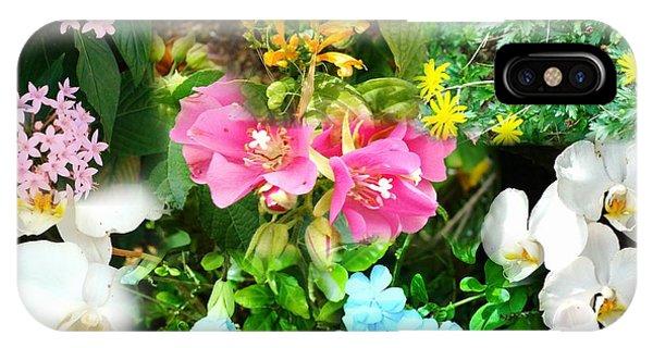 Confluent Flowers 12 IPhone Case
