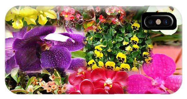 Confluent Flowers 9 IPhone Case