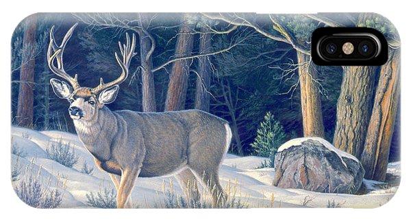 Mule Deer iPhone Case - Confrontation - Mule Deer Buck by Paul Krapf