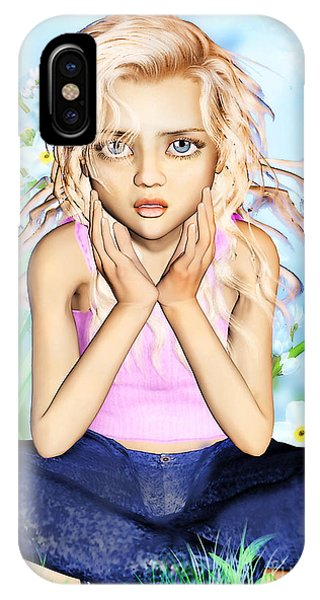 Confused Little Girl IPhone Case