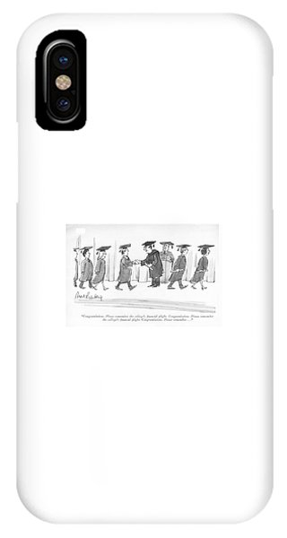 Debts iPhone Case - Congratulations. Please Remember The College's by Mort Gerberg
