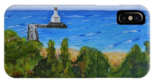 Summer, Conneaut Ohio Lighthouse IPhone Case