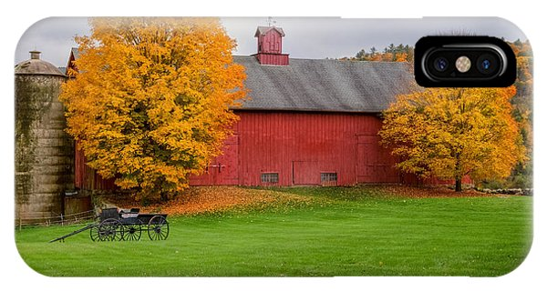 New England Barn iPhone Case - Connecticut Autumn by Bill Wakeley
