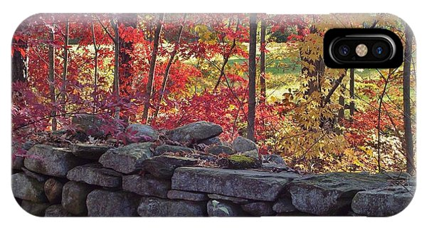Connecticut Stone Walls IPhone Case