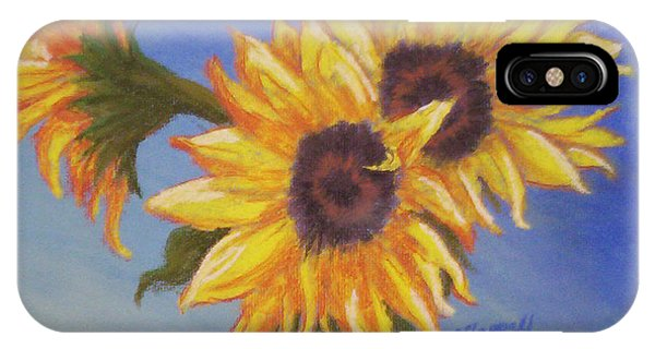Connies Sunflowers IPhone Case