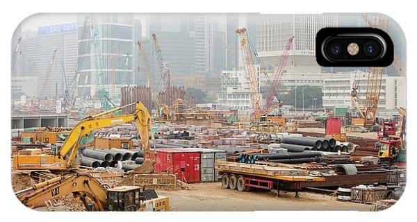 Construction Work In Hong Kong IPhone Case