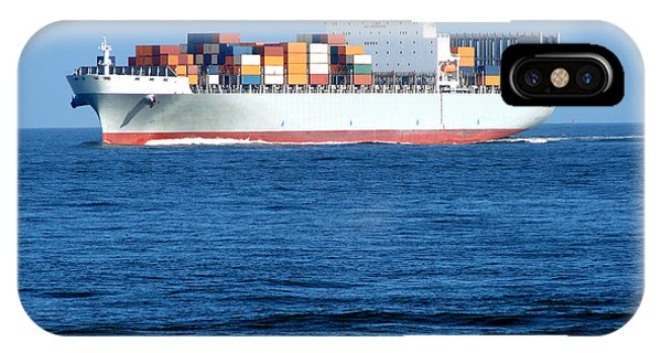 Navigation iPhone Case - Container Ship by Olivier Le Queinec
