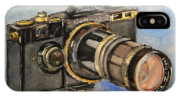 Camera iPhone Case - Contax I by Juan  Bosco
