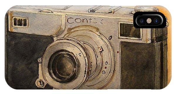 Cameras iPhone Case - Contax II by Juan  Bosco