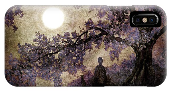 Buddhism iPhone Case - Contemplation Beneath The Boughs by Laura Iverson