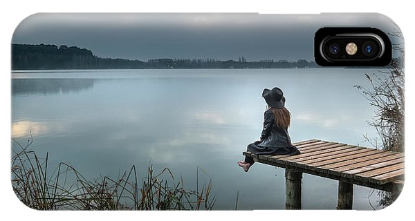 Pier iPhone Case - Contemplation by Soniacm
