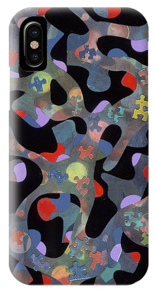 contemporary abstract art - Inside Outside IPhone Case