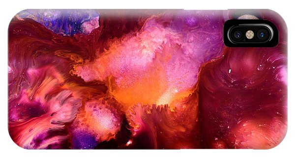 Contemporary Abstract Purple Bubbles By Kredart Bubl Phone Case by Serg Wiaderny