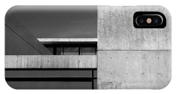 Contemporary Concrete Block Architecture Tree IPhone Case