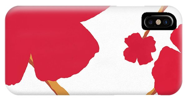 Contemporary Poppy IPhone Case