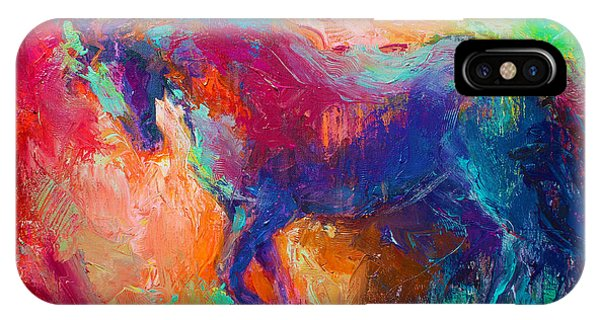 Contemporary Vibrant Horse Painting IPhone Case