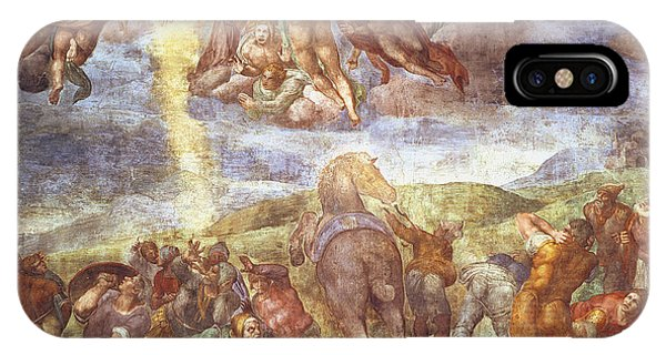 New Testament iPhone Case - Conversion Of St. Paul Fresco by Michelangelo Buonarroti