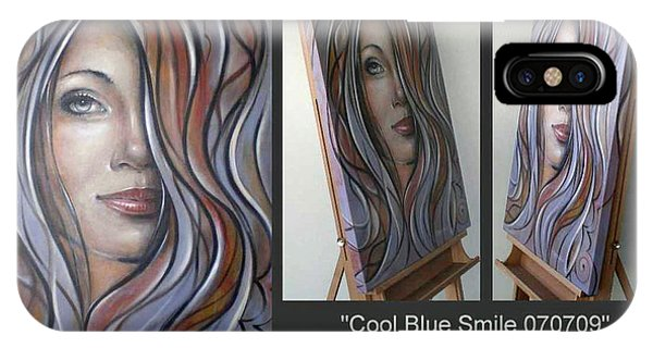 Cool Blue Smile 070709 Comp IPhone Case