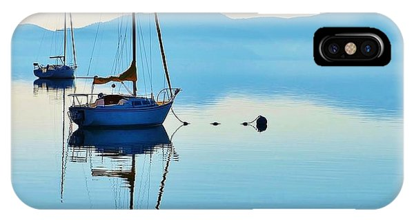 Cool Blue Tahoe Sail IPhone Case