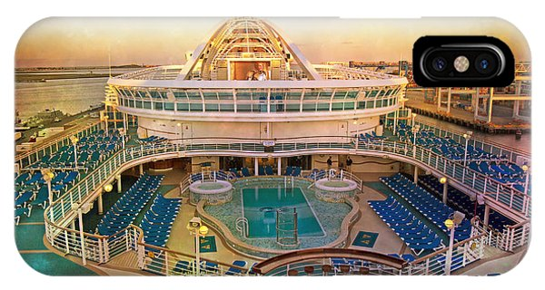 Cruise Ship iPhone Case - Cool Caribbean Princess by Betsy Knapp