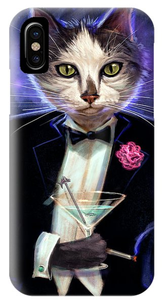 Martini iPhone Case - Cool Cat by Jeff Haynie