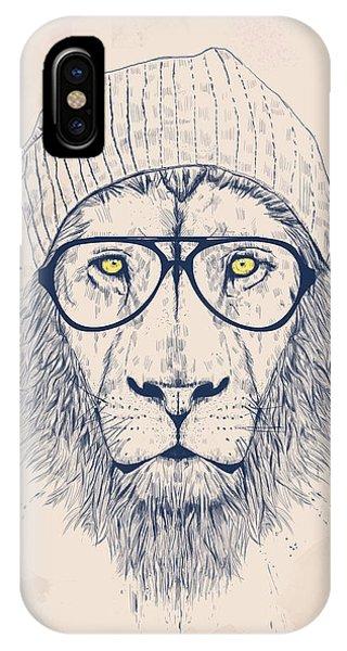 Lion iPhone Case - Cool Lion by Balazs Solti
