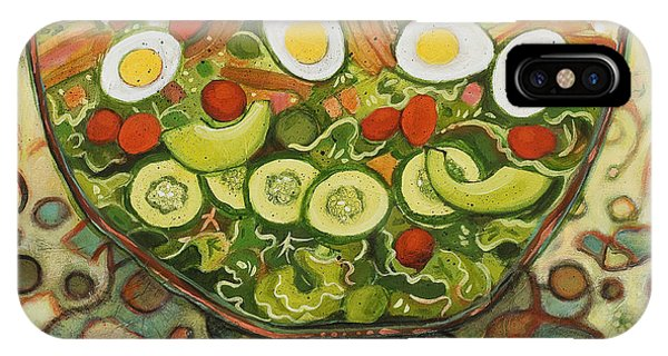 Lettuce iPhone Case - Cool Summer Salad by Jen Norton