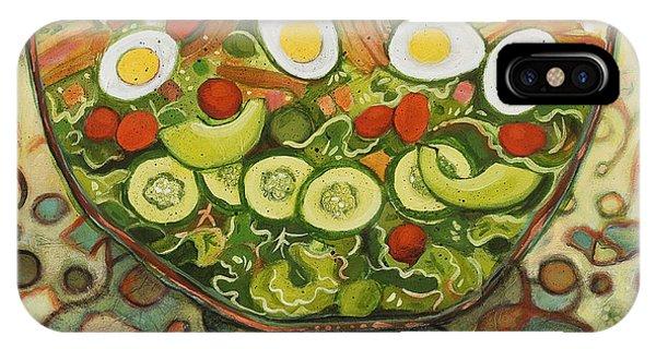 Kitchen iPhone Case - Cool Summer Salad by Jen Norton