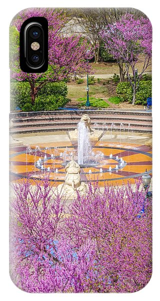 Coolidge Park Fountain In Spring IPhone Case