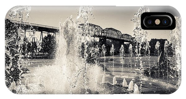Coolidge Park Fountains IPhone Case