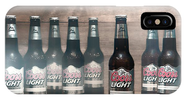 Frost Glass iPhone Case - Coors Light by Olivier Le Queinec
