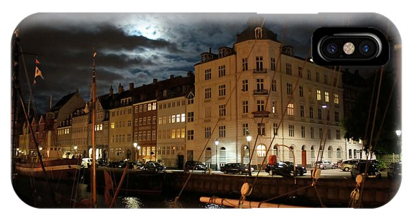 Copenhagen At Night IPhone Case