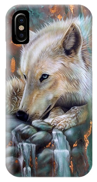Copper Arctic Wolf IPhone Case